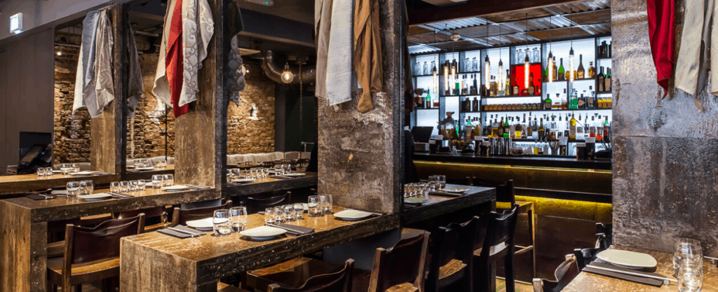 PURE WATER x Jinjuu soho - filtered water served in a restaurant