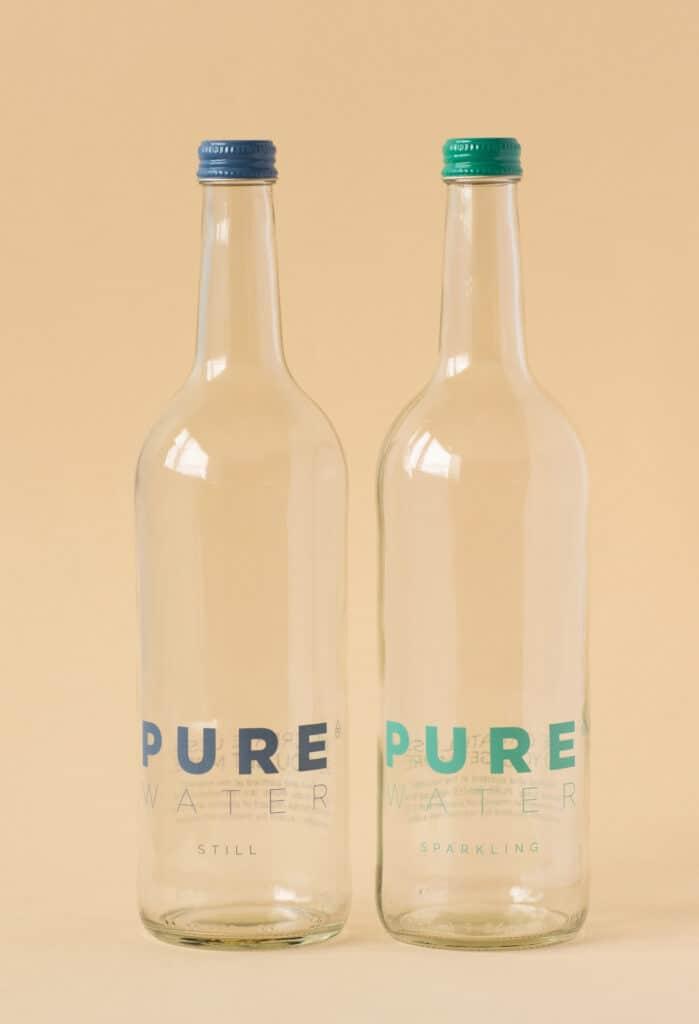 PUREdine bottles for restaurants, cafes, hotels and more.