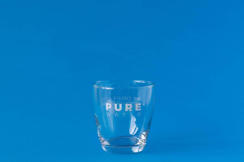 PUREfine glass. Reusable glasses for office and horeca.